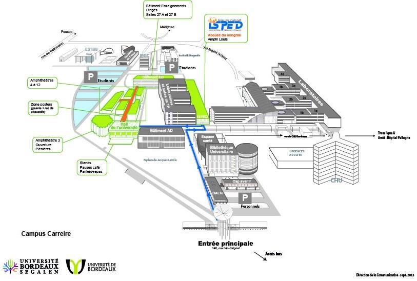 Carte Universite De Bordeaux.Congres Sante Publique Et Prevention Sciencesconf Org